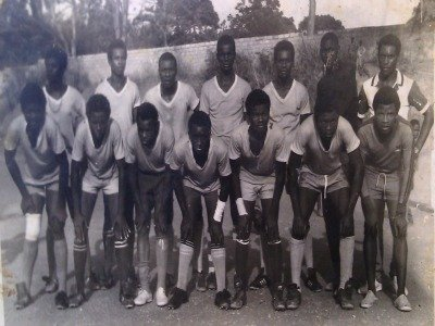 My High school soccer team. I'm third from the right in first row