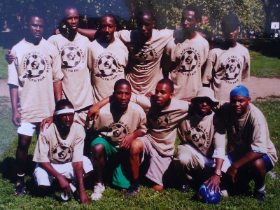 Sunday soccer team.  I'm first from the right in first row