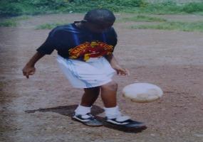 Franck my second boy juggling a ball